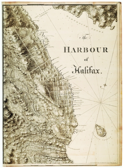 The Harbour of Halifax, by Joseph Frederick Wallet Des Barres, 1777. Courtesy of the National Maritime Museum, Greenwich, London.