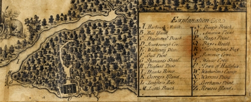 Maps K.Top. CXIX. 73 Early Map of Halifax, by Moses Harris, 1749 ((c)British Libr