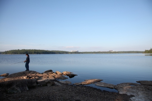Fishing at Long Lake